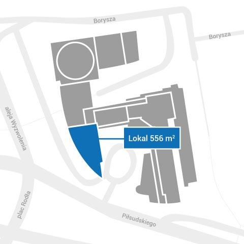 Lokal 556 m2 do wynajęcia - plan