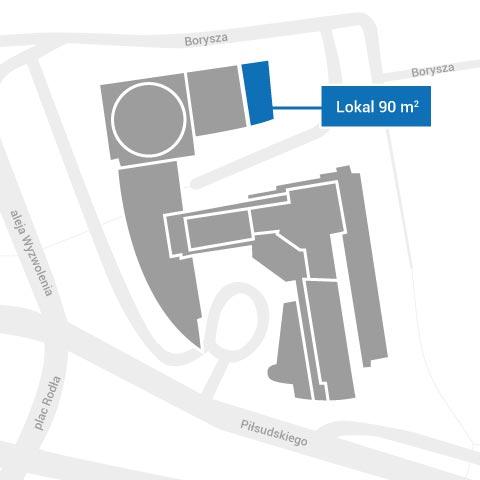Lokal 90 m2 do wynajęcia - plan